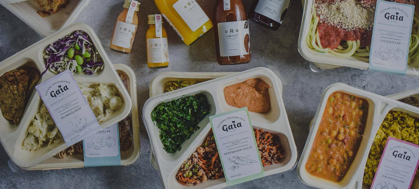 Plantebaserede måltidskasser fra Gaia